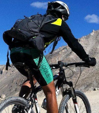 On way to Khardong La Pass, the Highest Motorable Road on Earth, Ladakh