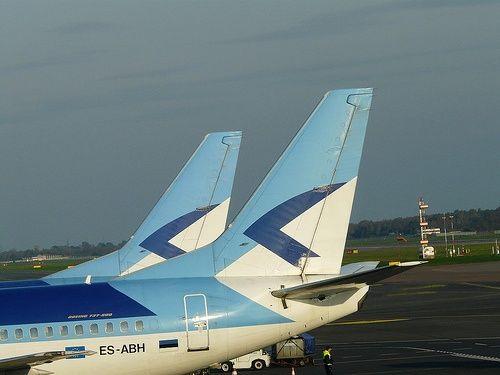 Estonian Air - ES-ABH - Boeing 737-53S @ Tallinn International Airport Estonian air