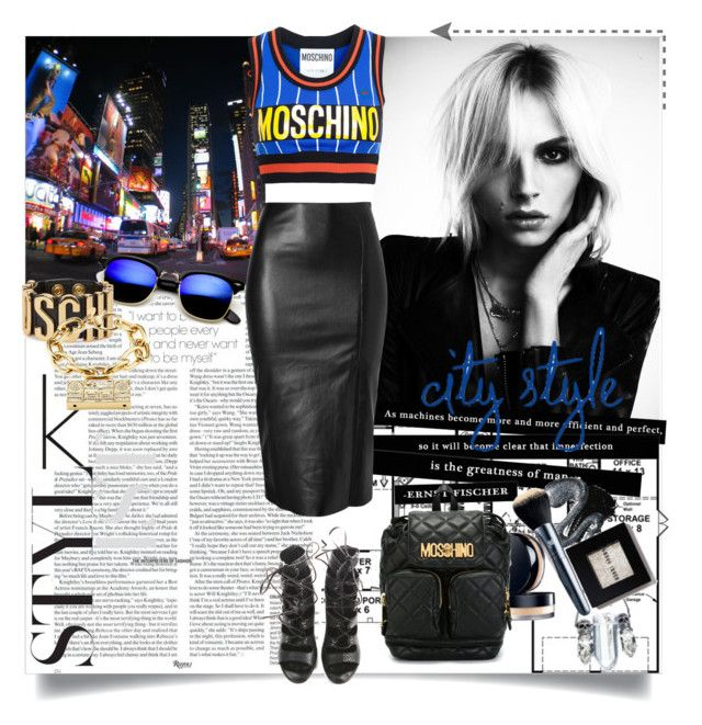City style by ramona-ice on Polyvore featuring Moschino, Jitrois and Balmain