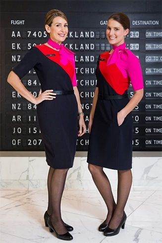 Qantas cabin crew uniform