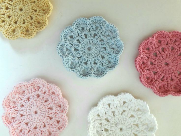 Posavasos de Crochet / DOS CASAS