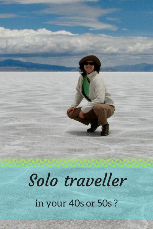 What is it like being a solo traveller in your 40s and 50s? Here are the advantages and disadvantages, plus some accommodation resources.