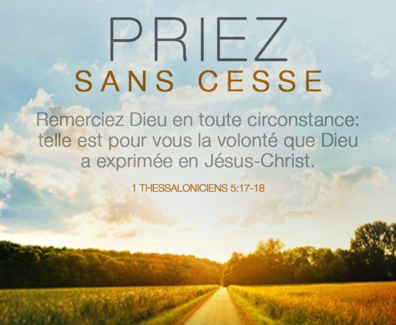 1Thessaloniciens 5:17-18