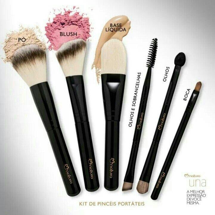 Pinceis de Maquiagem Natura UNA  ; )