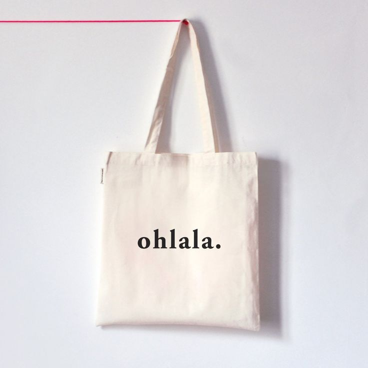 Ohlala / Organic cotton tote bag / Screen printed by oelwein, €14.00