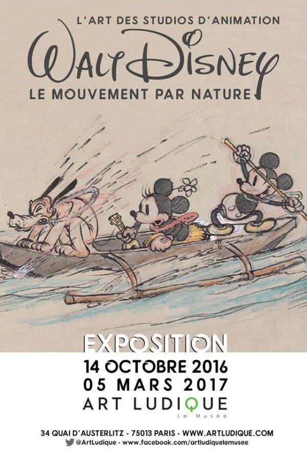 Walt Disney, le mouvement par nature au Musée Art Ludique. Affiche