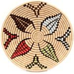 African Basket - Rwanda Sisal Coil Weave Bowl - 12 Inches Across - #33805