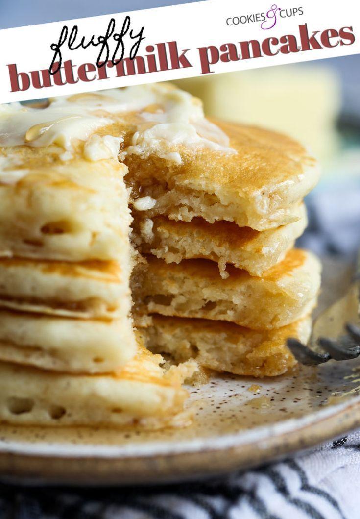 Fluffy Buttermilk Pancakes Breakfast Breakfast Buttermilk Fluffy Pancakes Buttermilk Pancakes Fluffy Buttermilk Pancakes Pancake Recipe Easy