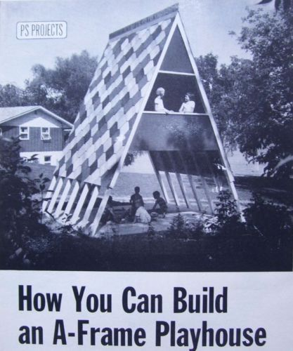 How to Build 2 Story Kids A Frame Outdoor Playhouse Play House Fort 1965 Plans | eBay