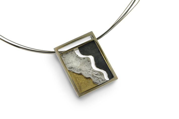 Pendant silver and gold  Audar collection Ref.20P1683 www.enrictorres.com