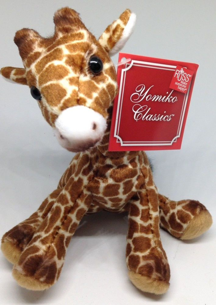 Russ Satin Mini Plush Baby Giraffe Stuffed Animal Toy Yomiko