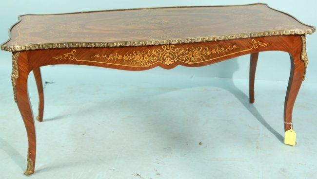 Circa 1900 french style coffee table lot 81 lewis for Table 52 houston