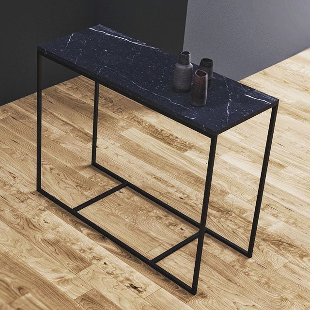 Table with marble top from Kosmonaut. Danish interior company in Poland