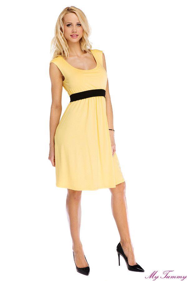 Sukienka ciążowa Amy żółta