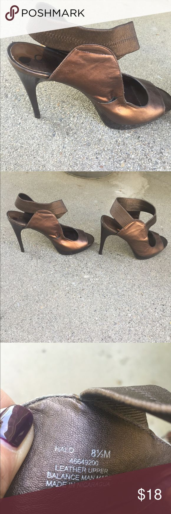 Carlos Santana Brown Copper Strappy Heels NWOT Never Worn size 8.5 these cute Strappy heels are copper brown. Great for Fall with a dress pant or dress . Style is Halo. Carlos Santana Shoes Heels