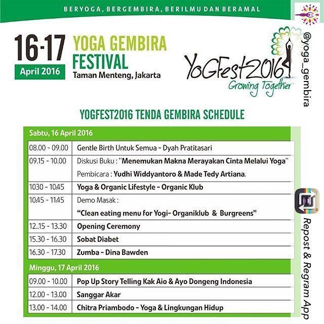 Kami akan hadir di #YoGFest2016 yang diselenggarakan oleh @yoga_gembira !  Kunjungi booth kami dan siapkan dirimu untuk segala kebaikan yang disiapkan oleh #jusyo !  Berani Baik Berani Sehat!  Jusyo - Untuk Kebaikan  #yoga #namaste #yogagirl #yogalife #yogalove #yogaindonesia #yogaeverydamnday #yogaeverywhere #indonesia #jakarta
