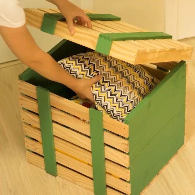 DIY - Baú de madeira  confira o passo a passo completo no Canal Diycore www.youtube.com/diycore