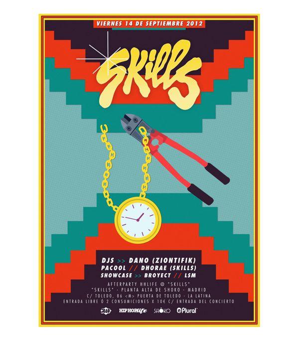 Skills Club Madrid by Bandiz Studio, via Behance