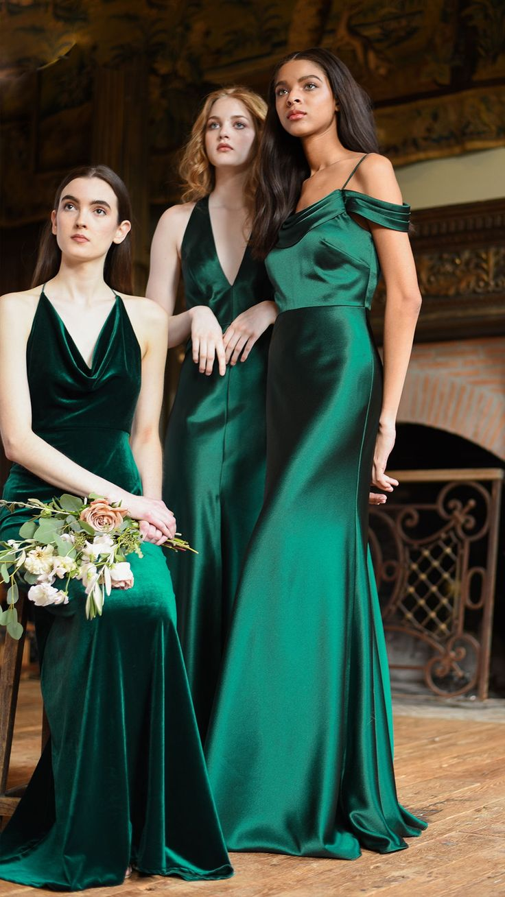 best Green Bridesmaid Dresses images on Pinterest Green gown