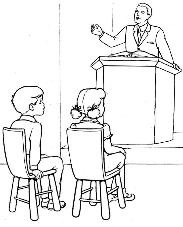 coloring pages childrens sermon - photo#2