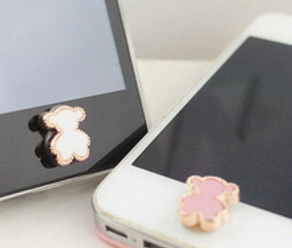 TOUS bear iPhone 5, iPad, iPhone 4S /4 Home Sticker Button on Etsy, $2.88
