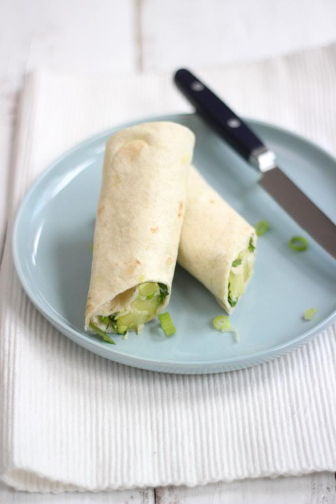 Lunchwrap met aardappelsalade & rucola