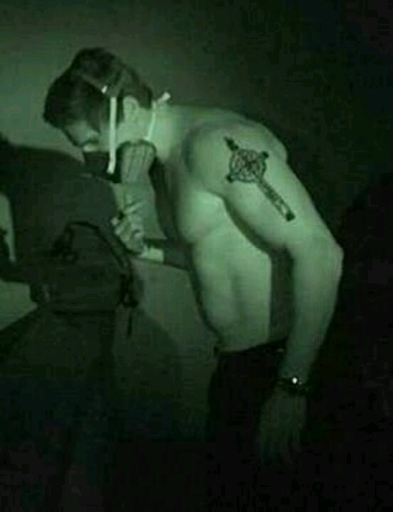 Zak Bagans provoking shirtless