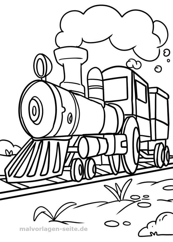 malvorlage lokomotive  fahrzeuge  kostenlose