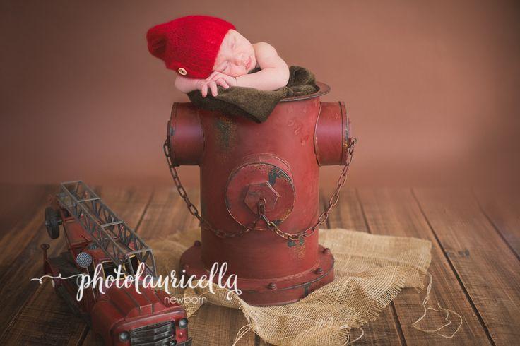 Baby Feuerwehr Feuerwehrmann Hydrant Fotografie