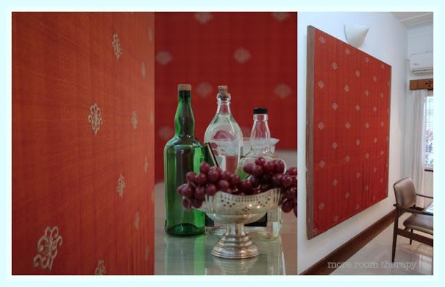 Indian home Decor- fabric, dining room