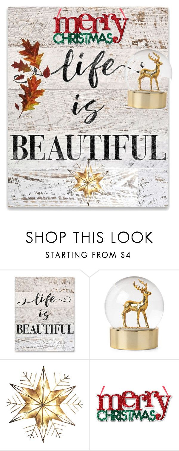 """""""life is beatiful"""" by fashion-designer-naile ❤ liked on Polyvore featuring interior, interiors, interior design, home, home decor, interior decorating and Kurt Adler"""