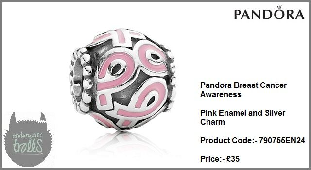 Pandora Breast Cancer Awareness Pink Enamel Charm (Silver)