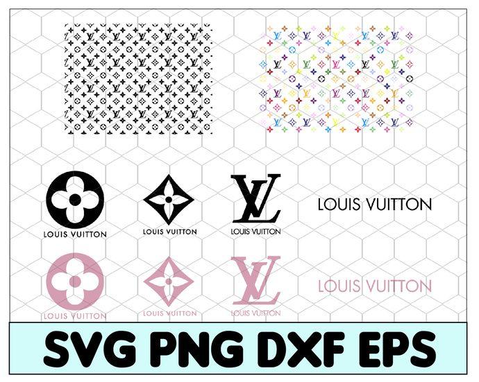 Louis Vuitton Svg Lv Bundle Brand Logo Svg Louis Vuitton Pattern Cricut File Silhouette Cameo Svg Png Eps Dxf B Louis Vuitton Pattern Louis Vuitton Svg