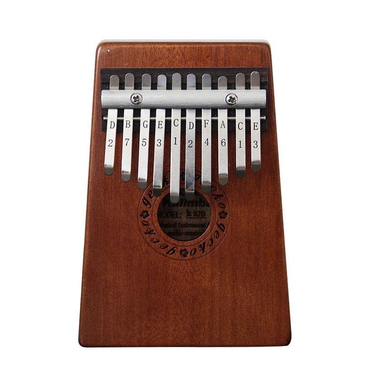 10 Key Kalimba Mahogany African Thumb Piano Finger Percussion Keyboard Music Instruments
