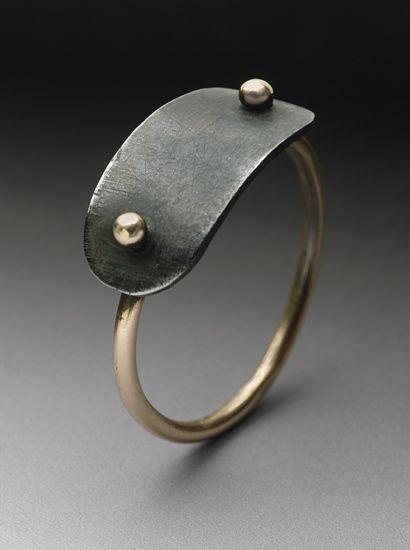 Plate Ring: Peg Fetter: Gold Ring