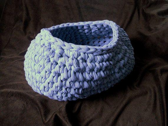 Gray Chunky Oval Basket Crochet Newborn Photography Prop Pouf by ShortMountain on Etsy, $35.00