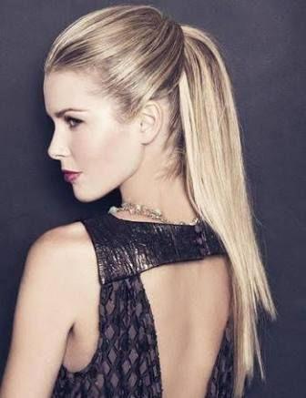 Resultado de imagen para peinados de noche con cola suelta #peinadosdefiesta