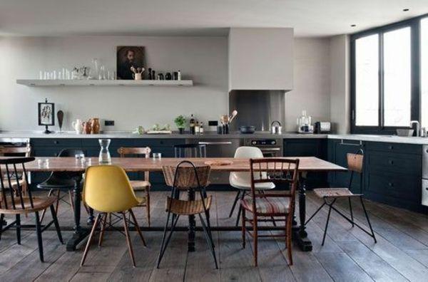 Chaise de salle à manger beau aménagement