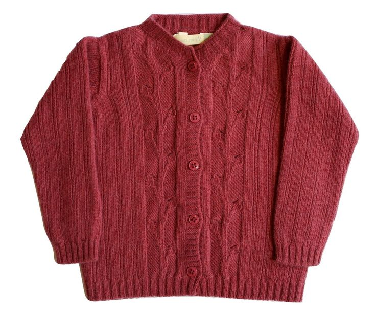 This cashmere & merino wool blend unisex cardigan has beautiful intricate leaves detail. Made in Spain