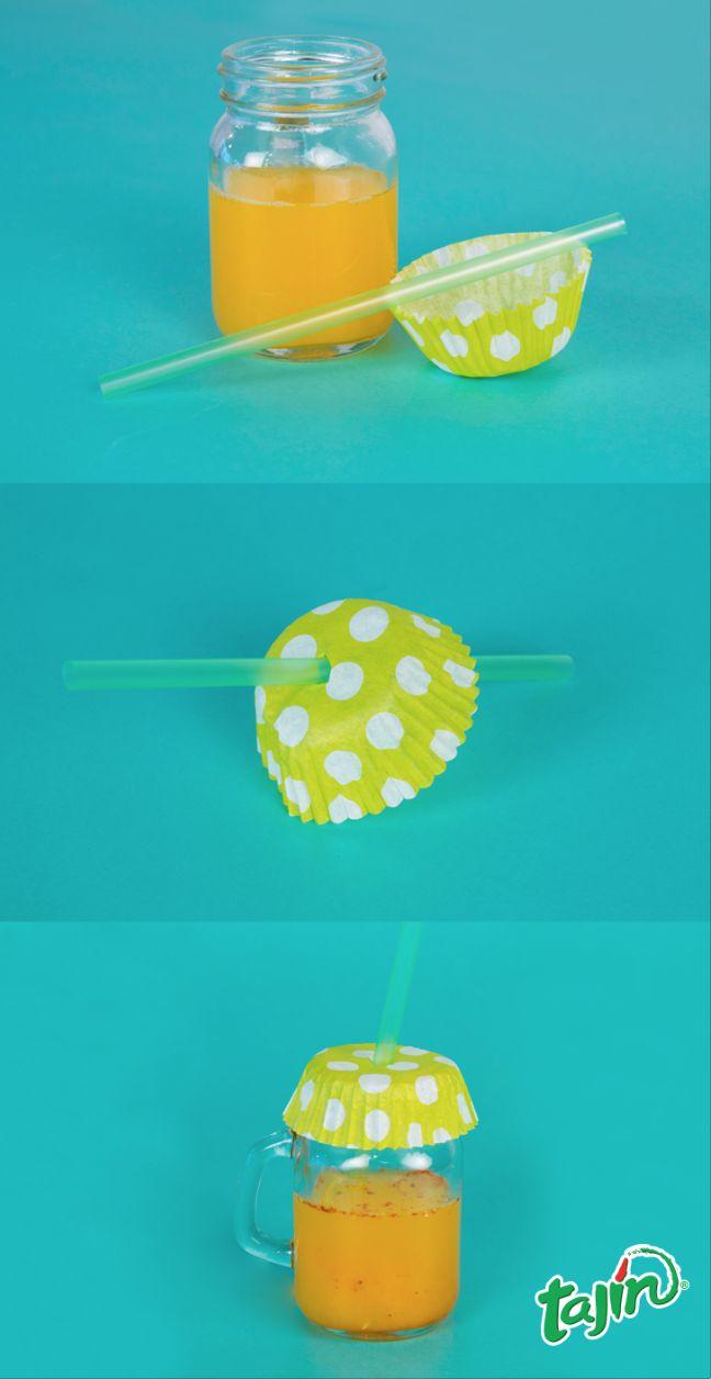 Keep mosquitos and flies out of your drinks with a simple trick ;) #TajinHacks #Summer #BBQ #DIY  www.tajin.com