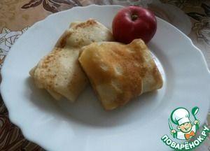 Блинчики на кипятке с яблочной-коричной начинкой