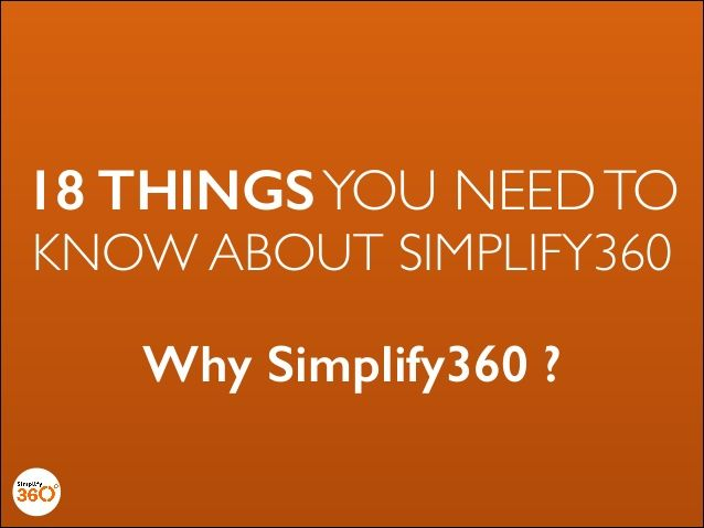 18 things you need to know about Simplify360