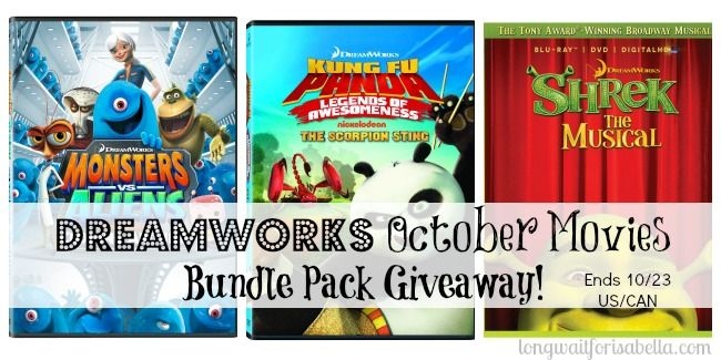 Dreamworks October Movies Bundle Ends 10/23 US/CAN
