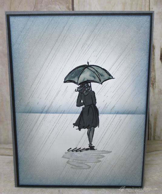 Rainy night Beautiful Background. Beautiful You. All Stampin'Up! product Frenchiestamps.com