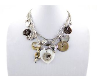 REMINISCENCE PARIS Butterfly and Hearts Silver Multi Chain Necklace Purchase: $210.00 CAD