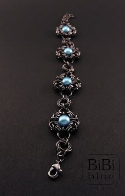 chainmaille bracelet by Bibi-Blue. Chainmaille Romanov