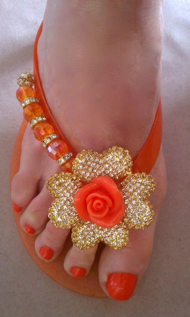 #orange , #sandália , #beautiful