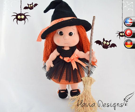 Pattern  Mia With Witch Costume by HavvaDesigns on Etsy