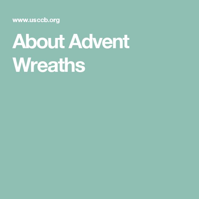 About Advent Wreaths