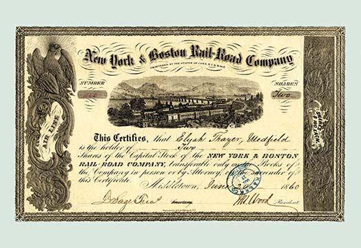 New York And Boston Rail Road Company Art Print Art Prints Vintage Advertisement Graphic Art